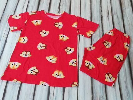 Bnew Red Chipmunk Pajama fits 5 to 7 yrs old