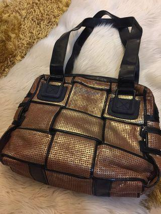 Tas fendi shoulder original auth full leather