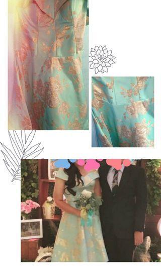 Jacquard Big Size Party/Bridesmaid Dress Eu 42