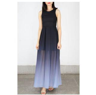 LF: Ombre Maxi Dress in Black and Grey