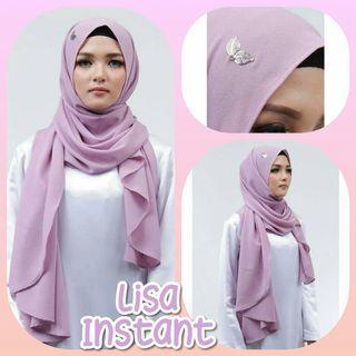 Lisa Instant Shawl Hijab Tudung Muslimah