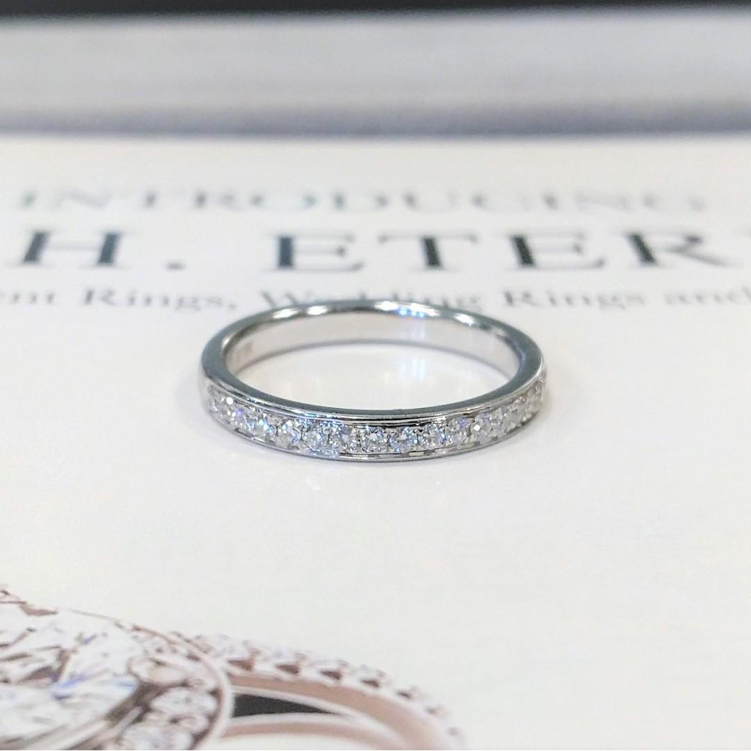 全新18K白金17份真鑽石戒指 | HK11號