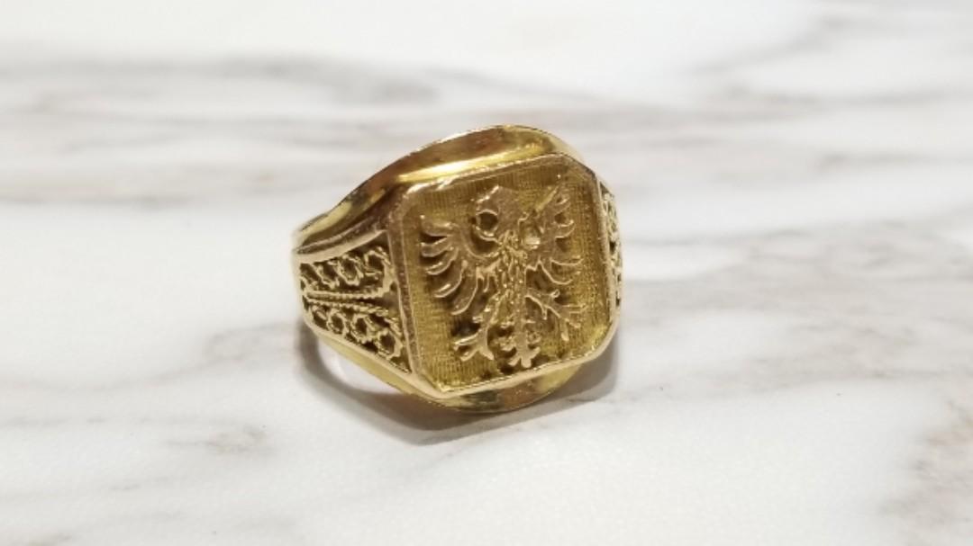 18K gold Men Ring  18K金男裝 德國國徽 老鷹 Germany Eagle  戒指10.4g