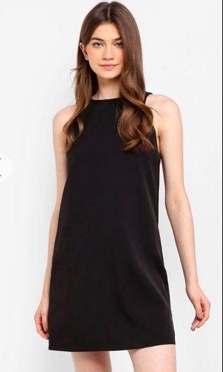 🚚 something borrowed sleeveless shift dress black
