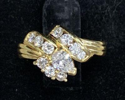Marquise Diamonds Ring