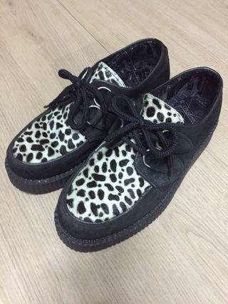 🚚 underground 豹紋厚底鞋