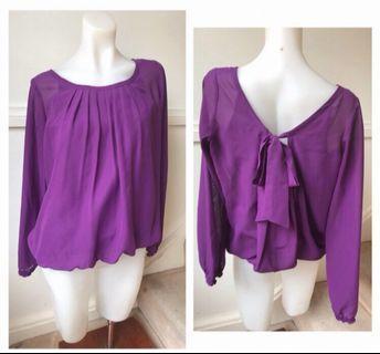 Size 8: long sleeve purple top
