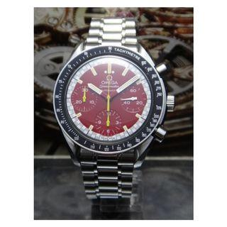 Authentic Omega Red Speedmaster Watch