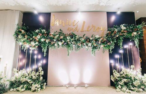 Customised wedding photo booth, stage decoration