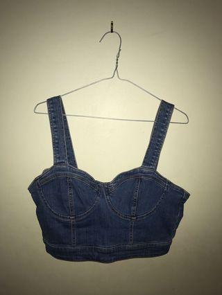 Bardot denim top