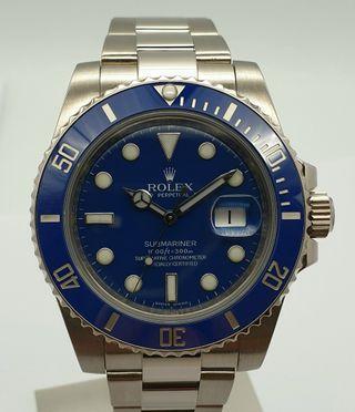 """Rolex Submariner """"Smurf"""" Blue in 18K White Gold Ref. M116619LB"""