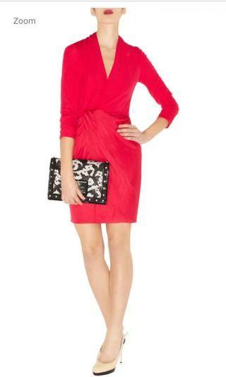 Karen millen statement pink knotted dress