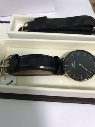 DW黑金手錶&錶帶 34mm