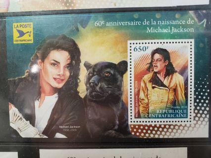 絕版 紀念品 Michael Jackson 郵票  Limited edition 罕見 稀有