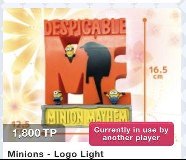 Despicable Me 3 Minions Logo Light from Toreba Japan