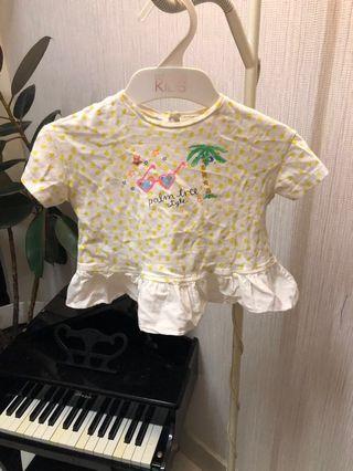 Zara top peplum baby