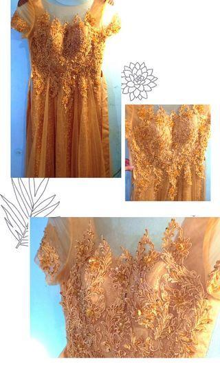 NEW Ellegant Golden-Party Big Size Dress