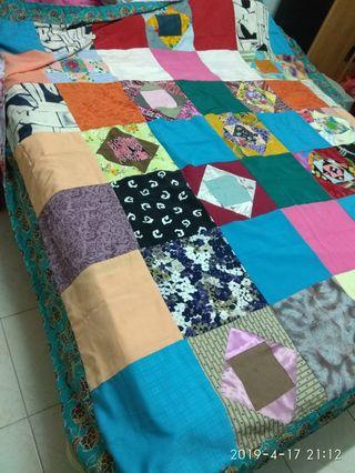 Brand new patchwork blanket 83x82inched