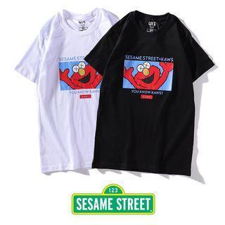 Uniqlo X Kaws Tshirt Sesame Street Edition