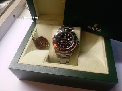 勞力士Rolex 16710 GMT 2 K頭紅黑