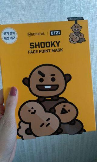 Shooky BT21 Face point mask