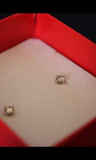 Solitaire Diamond White Gold Studs RRP $699