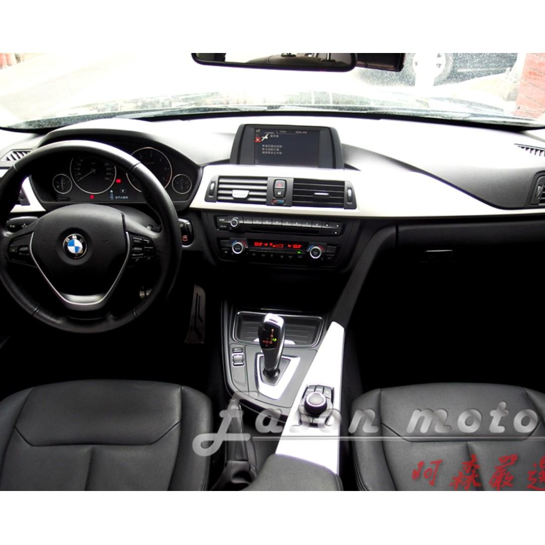 2015年BMW F30 318d總代理/2.0升渦輪增壓引擎/八速手自排/LED日行燈/車美