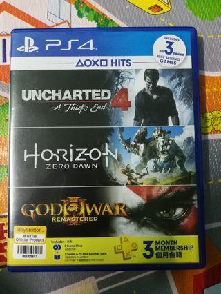 Ps4 Game Horizon Zero Dawn & Uncharted 4