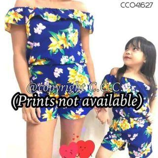 Mother and Daughter Terno set