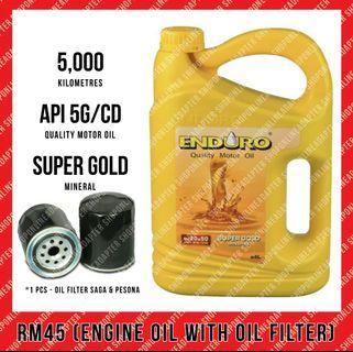 Engine Oil Enduro (4 liter) & Oil Filter