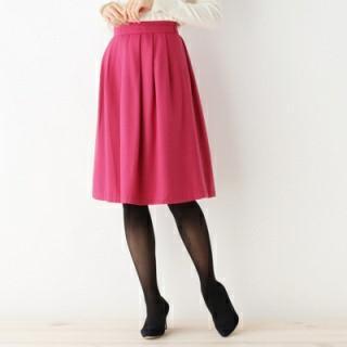 🚚 日本品牌 OPAOUE. CLIP 桃紅色 混羊毛 裙子