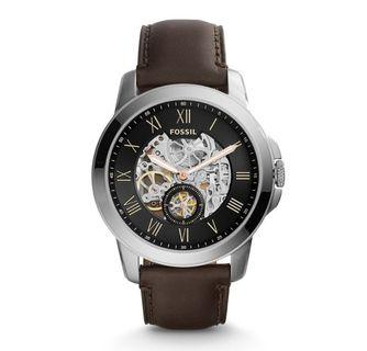 Fossil Men's Automatic Dark Brown Leather Watch