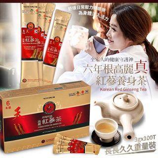 🚚 預購💜 新裝上市 六年根高麗真紅蔘養身茶長長久久重量裝 300g。$550