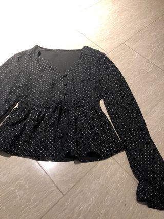 🚚 Vintage polka dot babydoll tunic top