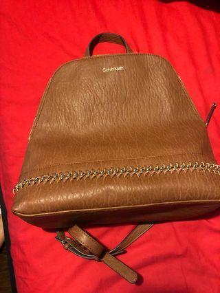 PRICE DROP Calvin Klein caramel backpack