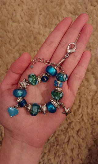 藍色玻璃手鏈