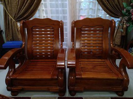 Kerusi kayu 3+1+1 set