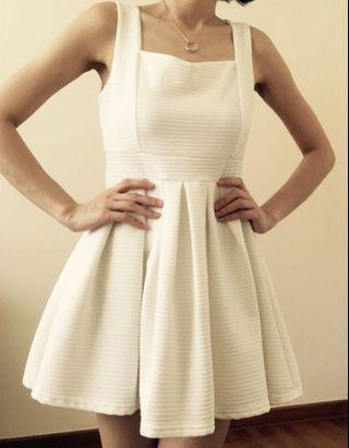 Little Off White flare Dress