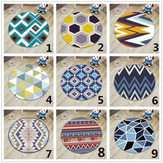 Colorful Geometric Printed Carpet Nordic Style Chair Computer Floor Mat Non-Slip #EndgameYourExcess
