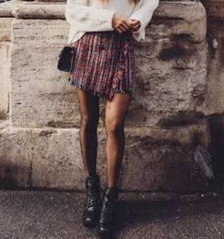 Bershka Tweed Skirt