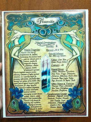 Fluorite art piece