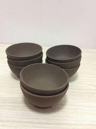 Clay cups (8 pieces)