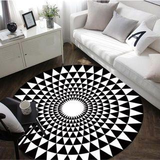 Gray Series Round Carpets Computer Chair Area Rug Children Play Tent Floor Mat #EndgameYourExcess