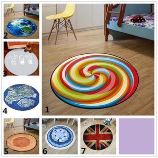 80cm Round Carpet 3D Print Anti-slip Rugs Computer Chair Mat Floor Mat #EndgameYourExcess