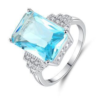 🚚 海藍寶石 戒指