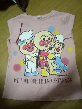 🚚 日本帶回麵包超人棉T-shirt-M