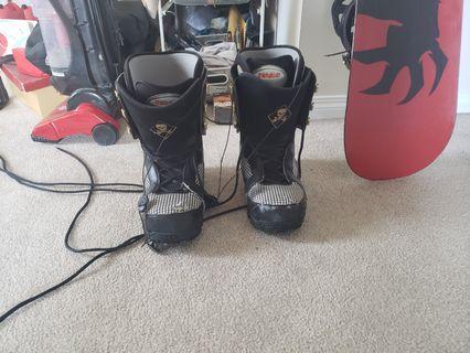 Burton snowboard and boots