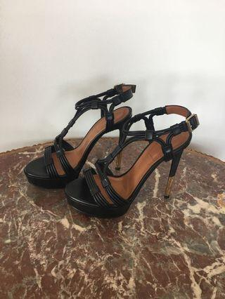 Givenchy size 6 Black Leather Heels