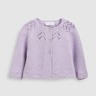 🚚 Baby Lilac Pointelle Cardigan