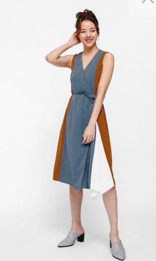 Love Bonito Fortensia Panel Wrap Dress